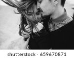 portrait of a young couple in... | Shutterstock . vector #659670871