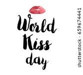 world kiss day promotion banner ... | Shutterstock .eps vector #659674441