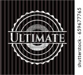 ultimate silver emblem | Shutterstock .eps vector #659677765
