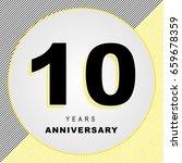 10 years anniversary banner | Shutterstock .eps vector #659678359