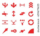 arrows icons set. set of 16...