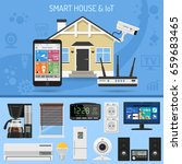 smart house and internet of... | Shutterstock .eps vector #659683465
