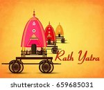 lord jagannath puri odisha god... | Shutterstock .eps vector #659685031