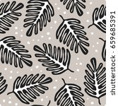 seamless pattern with hand... | Shutterstock .eps vector #659685391