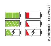 battery vector icon battery... | Shutterstock .eps vector #659695117