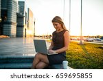 shot of a young business woman... | Shutterstock . vector #659695855