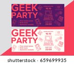 geek party poster with... | Shutterstock .eps vector #659699935