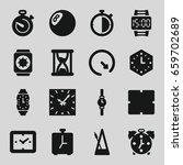 timer icons set. set of 16... | Shutterstock .eps vector #659702689