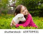 portrait of beautiful happy... | Shutterstock . vector #659709931