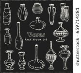 set with vases. vector isolated ...   Shutterstock .eps vector #659714281
