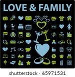 love   family signs. vector   Shutterstock .eps vector #65971531