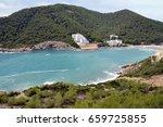 spain. ibiza. cala llonga. view ... | Shutterstock . vector #659725855