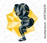 geometric crossfit concept....   Shutterstock .eps vector #659730259