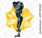 geometric crossfit concept....   Shutterstock .eps vector #659730265