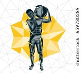 geometric crossfit concept....   Shutterstock .eps vector #659730289