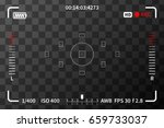 camera viewfinder with iso ... | Shutterstock .eps vector #659733037