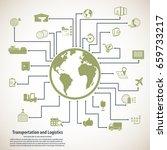 transportation and logistics  ... | Shutterstock .eps vector #659733217