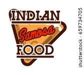 color vintage indian food emblem | Shutterstock .eps vector #659734705