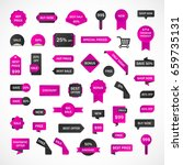 vector stickers  price tag ... | Shutterstock .eps vector #659735131
