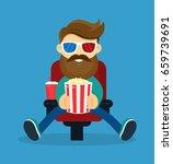 young happy smiling beard... | Shutterstock .eps vector #659739691