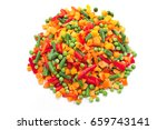 mixed vegetables for stew... | Shutterstock . vector #659743141