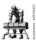 strong muscular bodybuilder...   Shutterstock . vector #659743327