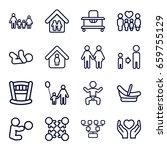 family icons set. set of 16... | Shutterstock .eps vector #659755129
