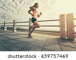 healthy lifestyle young woman... | Shutterstock . vector #659757469