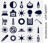 heat icons set. set of 25 heat... | Shutterstock .eps vector #659760097
