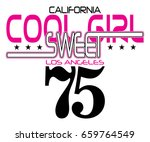 slogan text and number vector t ... | Shutterstock .eps vector #659764549