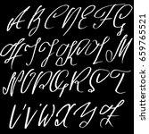 hand drawn elegant calligraphy... | Shutterstock .eps vector #659765521