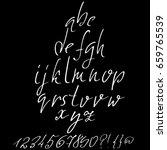 hand drawn elegant calligraphy... | Shutterstock .eps vector #659765539