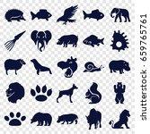 wildlife icons set. set of 25... | Shutterstock .eps vector #659765761