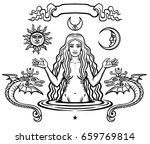 set of alchemical symbols ... | Shutterstock .eps vector #659769814