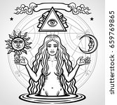 set of alchemical symbols ... | Shutterstock .eps vector #659769865
