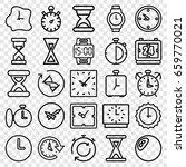 timer icons set. set of 25... | Shutterstock .eps vector #659770021