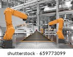robotic arms automation and... | Shutterstock . vector #659773099