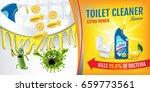 citrus fragrance toilet cleaner ...   Shutterstock .eps vector #659773561
