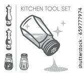 kitchen tool set. salt and... | Shutterstock .eps vector #659777974