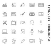 twenty five outline set art... | Shutterstock .eps vector #659778151