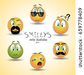 set of emoticon smileys.... | Shutterstock .eps vector #659778409
