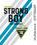 san francisco strong boy... | Shutterstock .eps vector #659786689