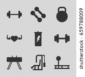 bodybuilding icons set. set of... | Shutterstock .eps vector #659788009