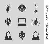 spring icons set. set of 9... | Shutterstock .eps vector #659789641