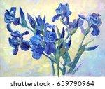 Fleur De Lis. A Beautiful Oil...
