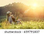 happiness mother and son... | Shutterstock . vector #659791837