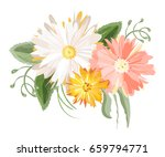 vector flowers bouquet isolated ...