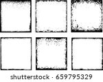 grunge frame set. vector... | Shutterstock .eps vector #659795329