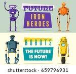 set of robots. technology ... | Shutterstock .eps vector #659796931