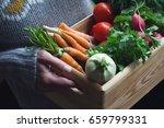 closeup of young caucasian... | Shutterstock . vector #659799331